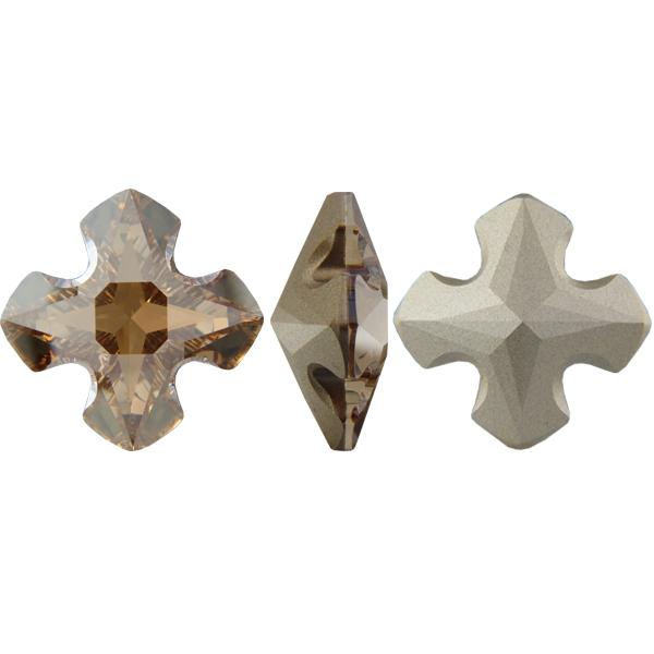 Swarovski 4784 Greek Cross Fancy Stone Crystal Golden Shadow 23mm