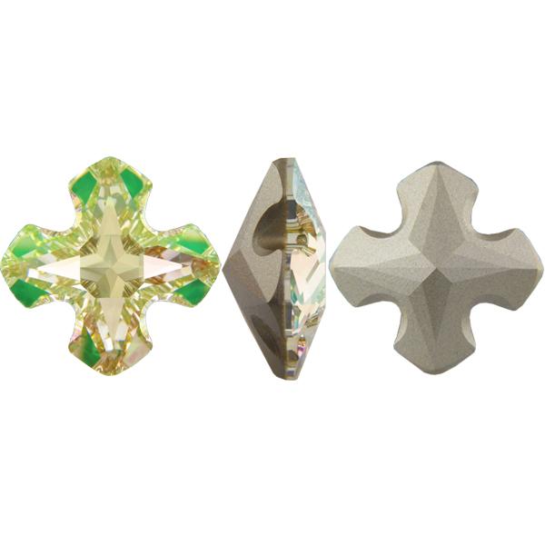 Swarovski 4784 Greek Cross Fancy Stone Crystal Luminous Green 8mm