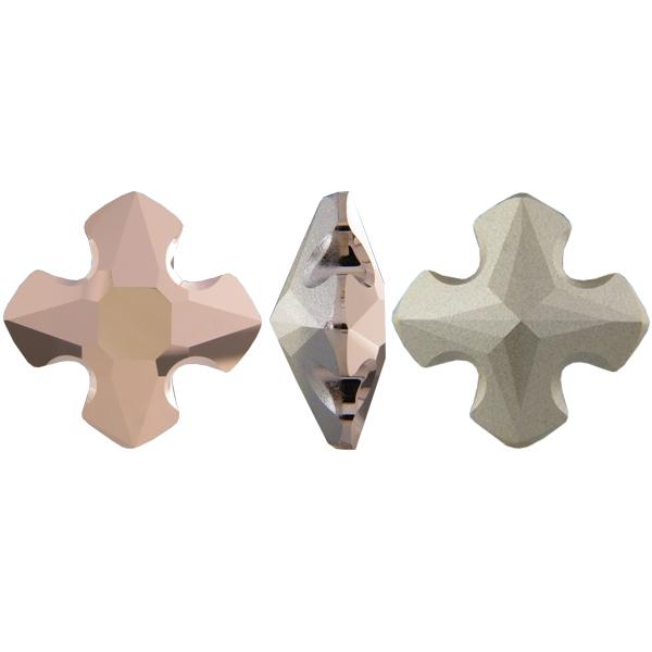 Swarovski 4784 Greek Cross Fancy Stone Crystal Rose Gold 14mm
