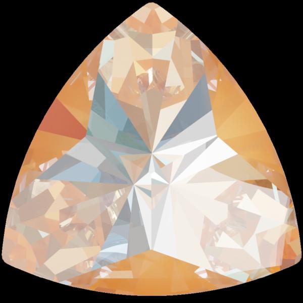 Swarovski 4799 Kaleidoscope Triangle Fancy Stone Crystal Peach DeLite 14x14.3mm
