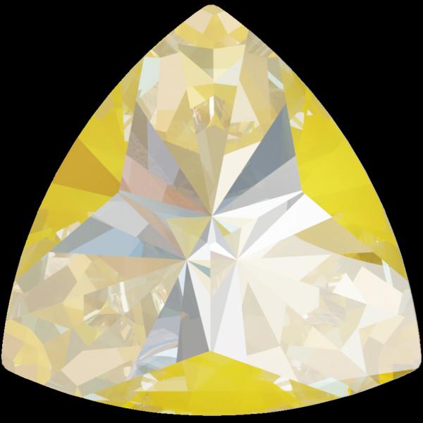 Swarovski 4799 Kaleidoscope Triangle Fancy Stone Crystal Sunshine DeLite 6x6.1mm