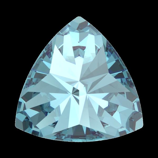 Swarovski 4799 Kaleidoscope Triangle Fancy Stone Aquamarine 6x6.1mm