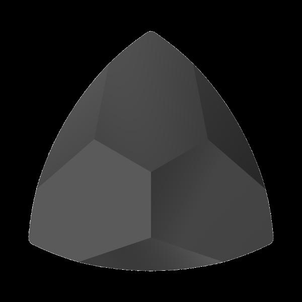 Swarovski 4799 Kaleidoscope Triangle Fancy Stone Jet 6x6.1mm