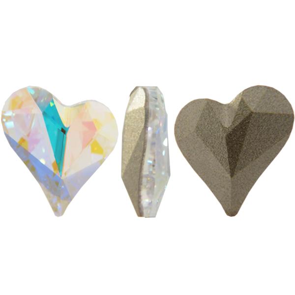 Swarovski 4810 Sweet Heart Fancy Stone Crystal AB 13x12mm