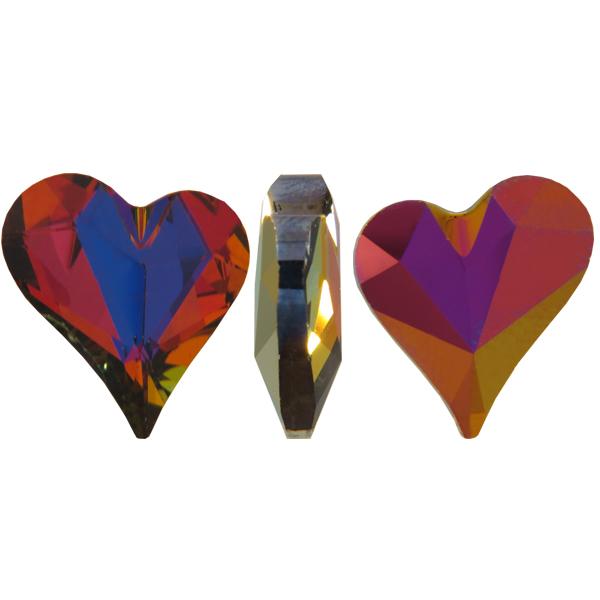 Swarovski 4810 Sweet Heart Fancy Stone Crystal Volcano 13x12mm