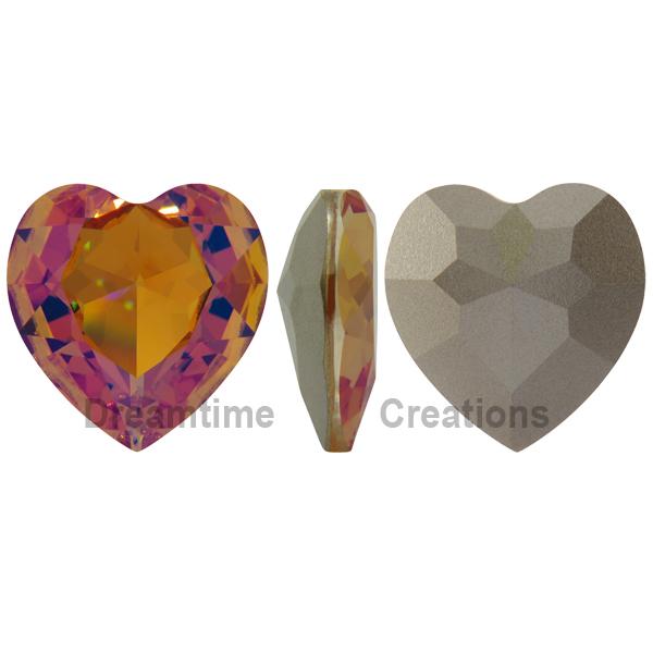 Swarovski 4827 Large Heart Shaped Fancy Stone Brandy 28mm