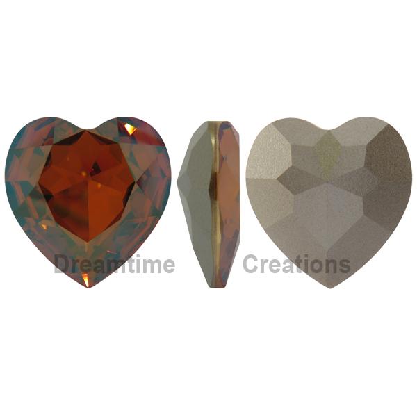 Swarovski 4827 Large Heart Shaped Fancy Stone Crystal Chili Pepper 28mm