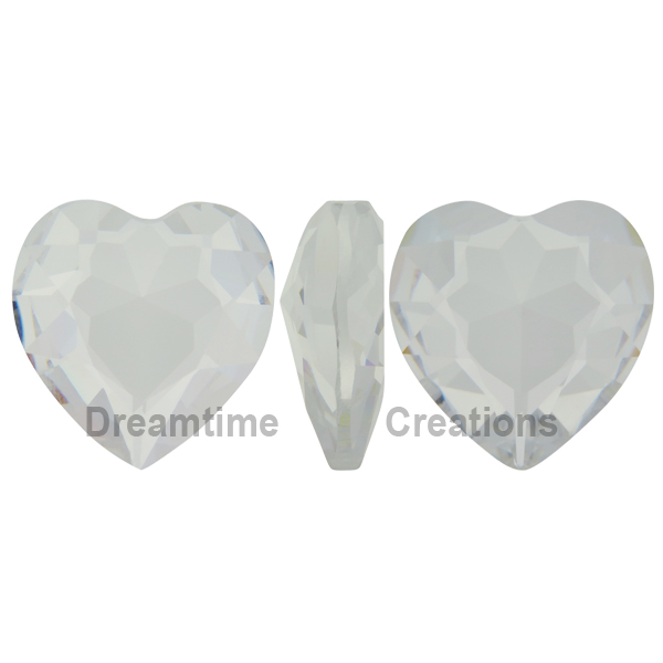 Swarovski 4827 Large Heart Shaped Fancy Stone Crystal (Unfoiled) 28mm