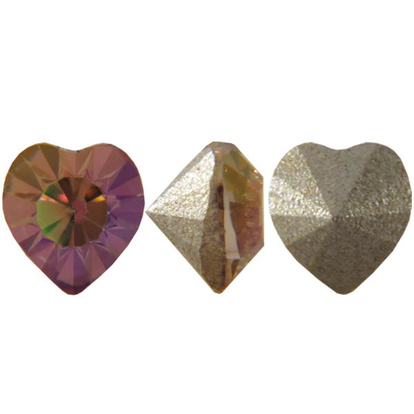 Swarovski 4835 Mini Heart Fancy Stone Light Amethyst Purple Haze 3.5mm