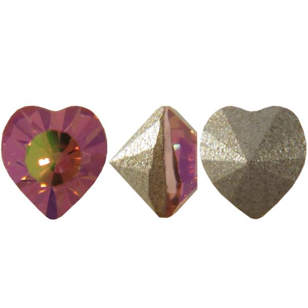 Swarovski 4835 Mini Heart Fancy Stone Light Rose Purple Haze 3.5mm