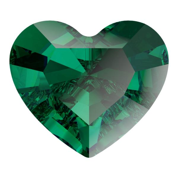 Swarovski 4883 Mini Heart Fancy Stone Emerald 3.6x3.1mm
