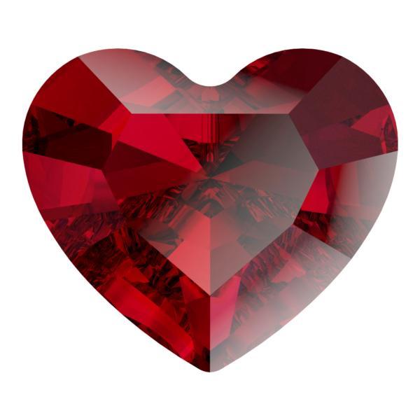 Swarovski 4883 Mini Heart Fancy Stone Siam 3.6x3.1mm