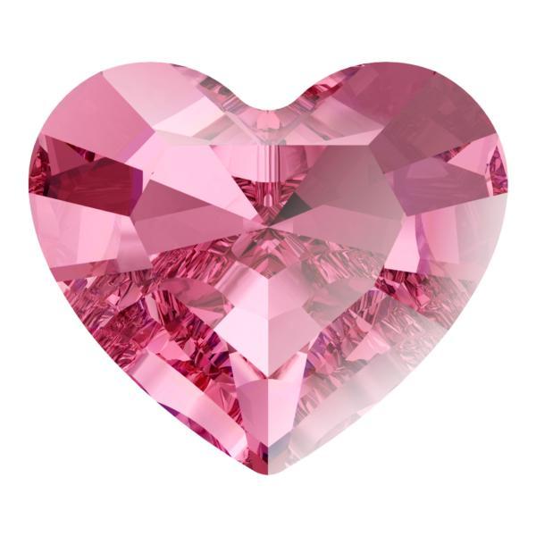 Swarovski 4883 Mini Heart Fancy Stone Rose 3.6x3.1mm