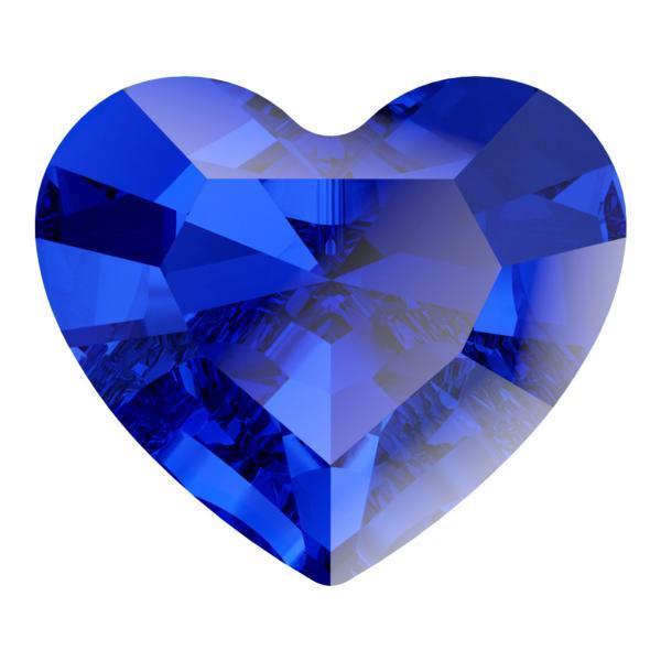 Swarovski 4883 Mini Heart Fancy Stone Majestic Blue 3.6x3.1mm