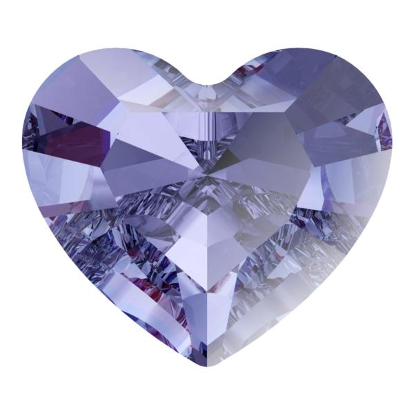 Swarovski 4883 Mini Heart Fancy Stone Tanzanite 3.6x3.1mm