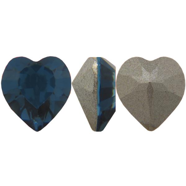 Swarovski 4884 Xilion Heart Fancy Stone Montana 5.5x5mm