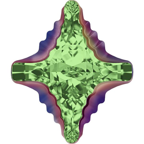 Swarovski 4927 Rhombus Tribe Fancy Stone Peridot Scarabaeus Green 14x12mm