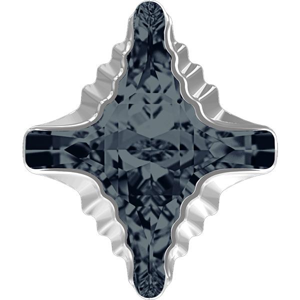 Swarovski 4927 Rhombus Tribe Fancy Stone Graphite Light Chrome 19x17mm