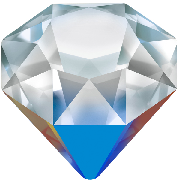 Swarovski 4928 Tilted Chaton Fancy Stone Crystal Bermuda Metallic Blue 18mm