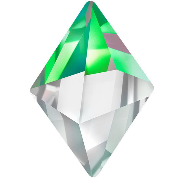 Swarovski 4929 Tilted Spike Fancy Stone Crystal Vitrail Medium 14x10.5mm