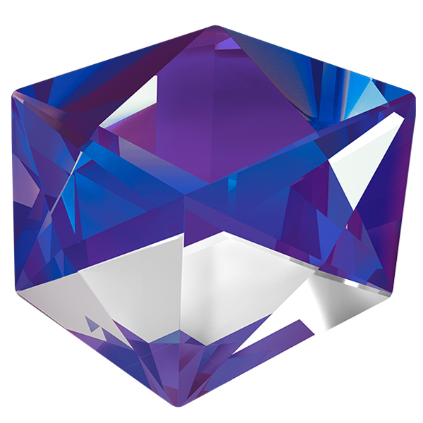 Swarovski 4933 Tilted Dice Fancy Stone Crystal Purple 19mm