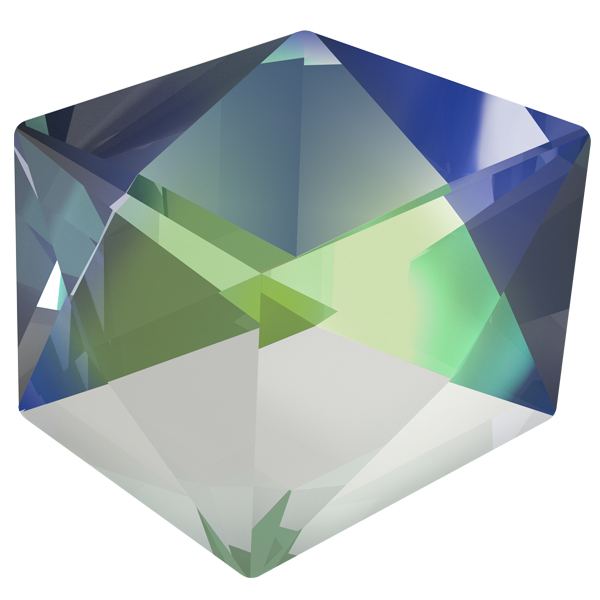Swarovski 4933 Tilted Dice Fancy Stone Crystal Sahara 19mm