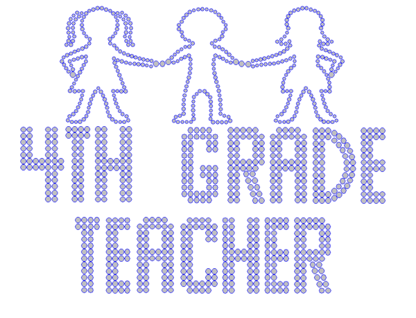 Iron On Transfer - FOURTH GRADE TEACHER