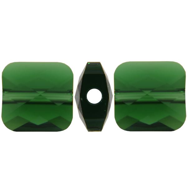Swarovski 5053 Mini Square Bead Dark Moss Green 6mm