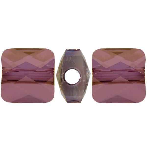 Swarovski 5053 Mini Square Bead Crystal Lilac Shadow 6mm