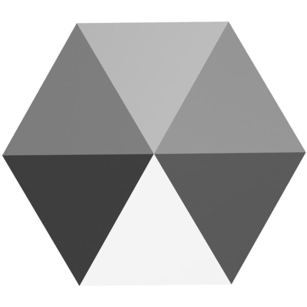 Swarovski 5060 Hexagon Two-Hole Spike Bead Crystal Light Chrome 7.5mm