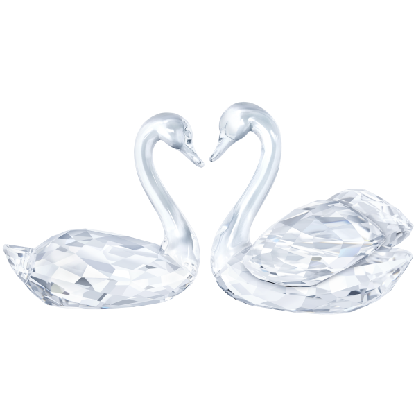 Swarovski Collections Swan Couple Figurine, Signed by the Designer