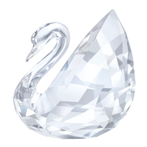 Swarovski Collections Small Swan Figurine, Signed by the Designer