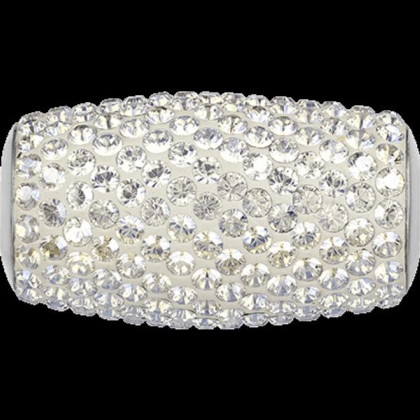 Swarovski 180921 BeCharmed Pave Beads 13mm Crystal Moonlight