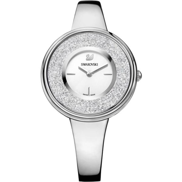 Swarovski Collections Crystalline Pure Watch, Metal Bracelet, White, Stainless Steel