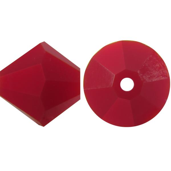 Swarovski 5301 Bicone Bead Dark Red Coral 8mm