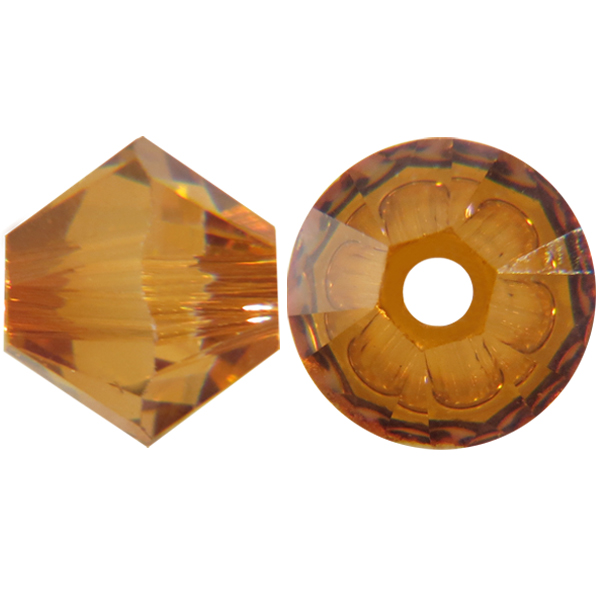 Swarovski 5328 Bicone Bead Crystal Copper 4mm