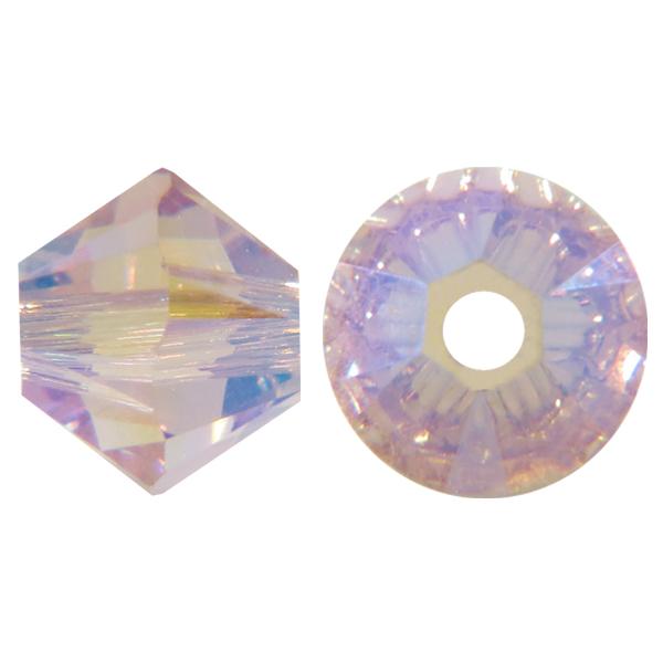 Approx Swarovski Crystal Bicone Amethyst AB 2X 6mm 48 PCS 5328