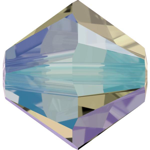 Swarovski 5328 Xilion Bicone Bead Black Diamond Shimmer 2X 3mm