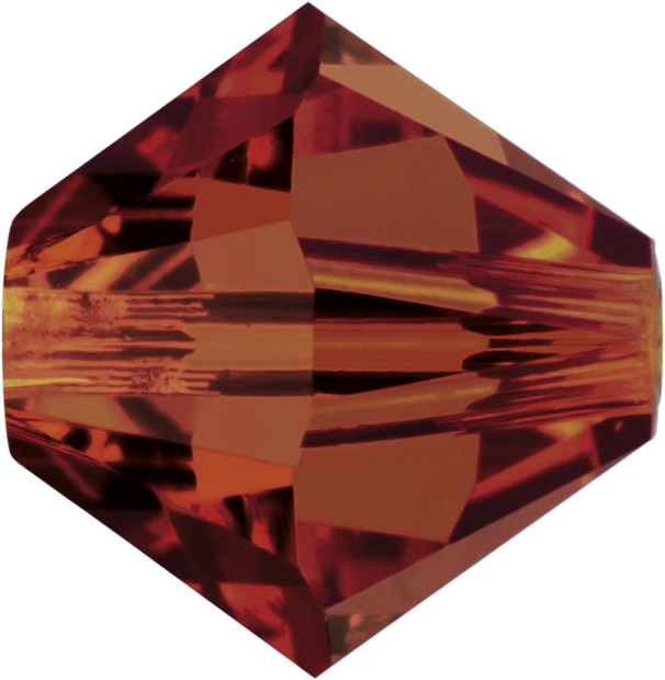 Swarovski 5328 Bicone Bead Crystal Red Magma 4mm