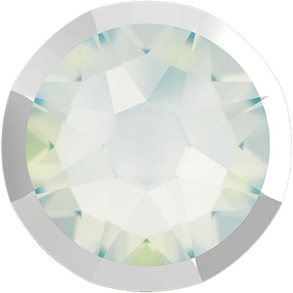 Swarovski 2088/I Rimmed XIRIUS Rose Flat Back White Opal with Light Chrome Rim SS20