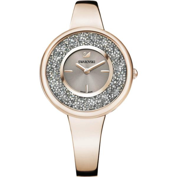 Swarovski Collections Crystalline Pure Watch, Metal Bracelet, Champagne-Gold Tone PVD