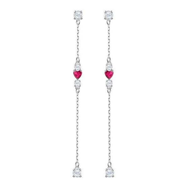 2f947a5db Swarovski Collections - Love Pierced Earrings, Crystal, Rhodium Plating |  Dreamtime Creations