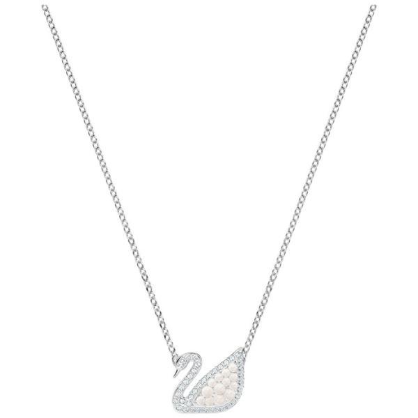 83c7b06da1c429 Swarovski Collections Iconic Swan Necklace, White, Rhodium plating ...