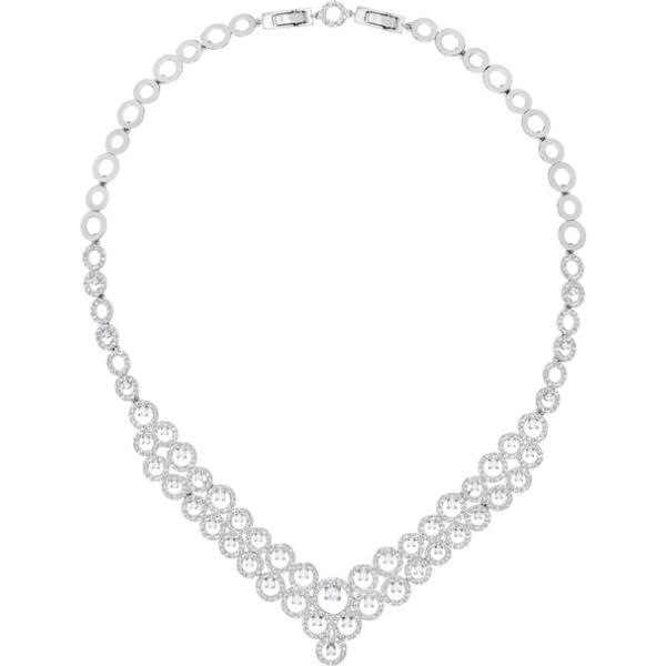 Swarovski Collection Creativity Necklace, White, Rhodium plating