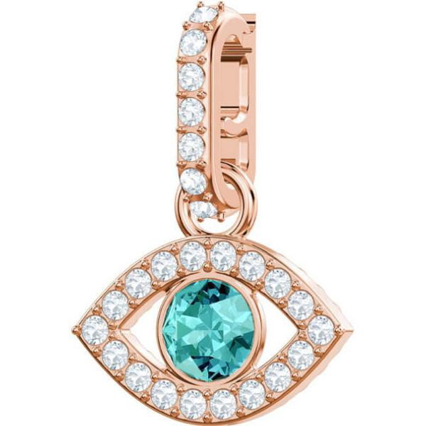 Swarovski Remix Collection Evil Eye Charm, Multi Colored, Rose Gold Tone Plated