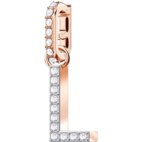 Swarovski Remix Collection Charm L, White, Rose-Gold Tone Plated