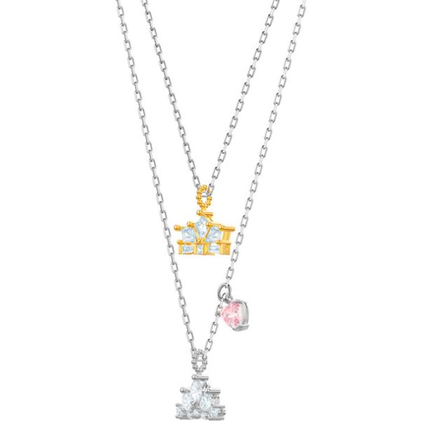 Swarovski Collection Out of this World Queen Necklace, White, Mixed Plating