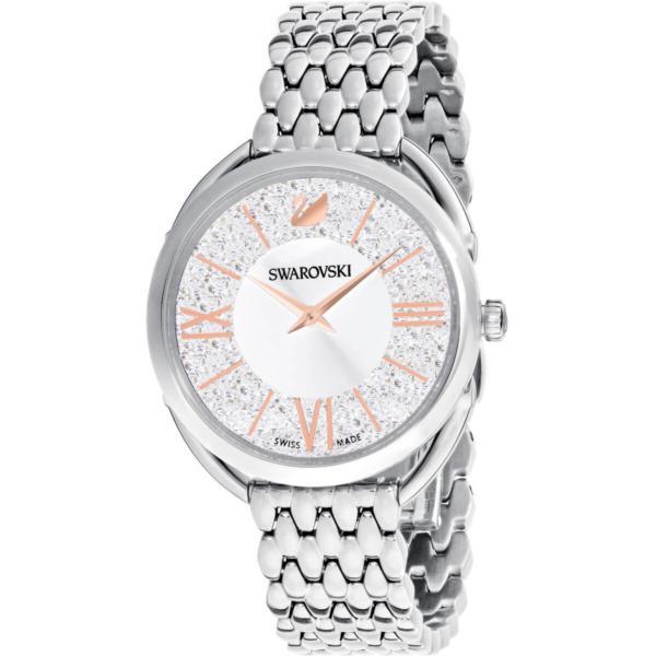 Swarovski Collections Crystalline Glam Watch, Metal Bracelet, White, Stainless Steel