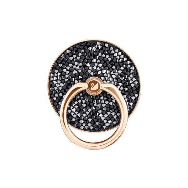 Swarovski Collections Smartphone Sticker, Glam Rock Ring, Black Mixed Plating