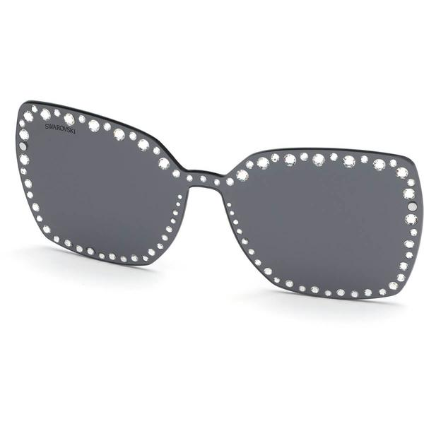 Swarovski Click-on Mask for Sunglasses, SK5330-CL 16A, Gray